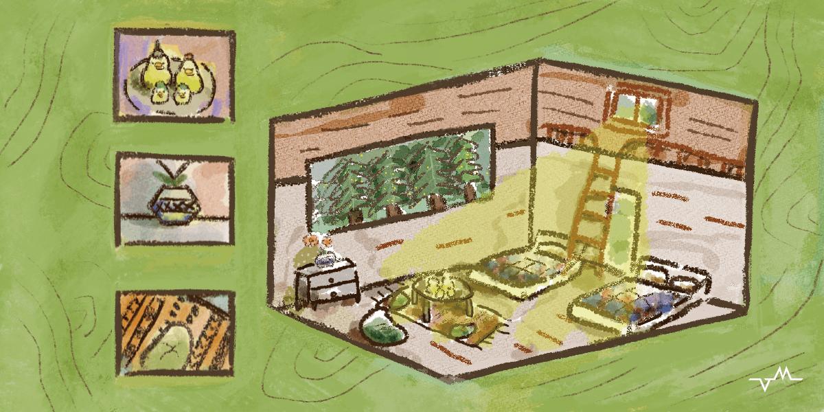 溫馨芬多精森林木屋